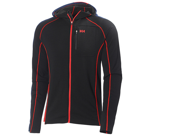 Helly Hansen WARM FZ HOODIE BLACK / ALERT RED XL (48279_991-XL)