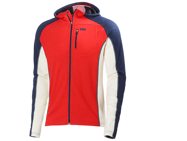 Helly Hansen WARM FZ HOODIE RED / EVENING BLUE L (48279_222-L)