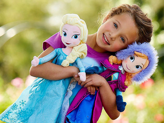 Óriás plüss babák a Disney Jégvarázs című rajzfilmjéből - Anna és Elza, akikkel szívesen fog játszani és aludni kislányod