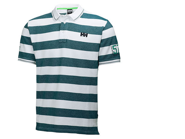 Helly Hansen MARSTRAND POLO MYRTLE GREEN STRIPE L (54130_297-L)