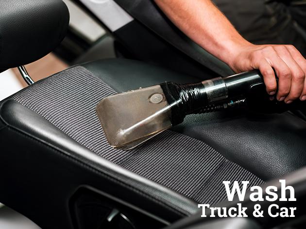 Autó kárpittisztítás külső mosással és felni tisztítással + WAX ajándékba / Truck-carwash (X. kerület)