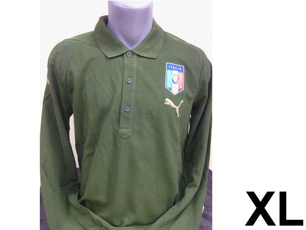 Puma Italia galléros hosszú ujjú férfi póló - XL