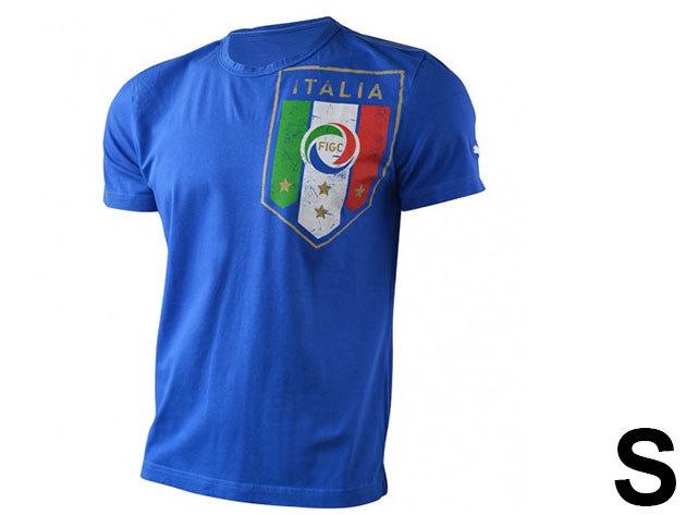 Puma Italia kék férfi póló - S