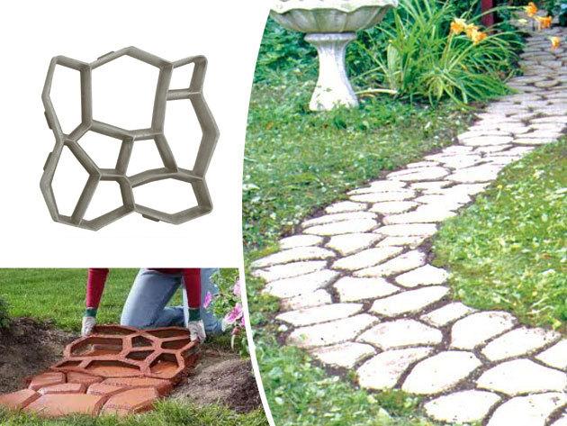 Műanyag térkősablon - Készíts hangulatos 'ösvényeket' a kertben, kreatívan, költséghatékonyan!