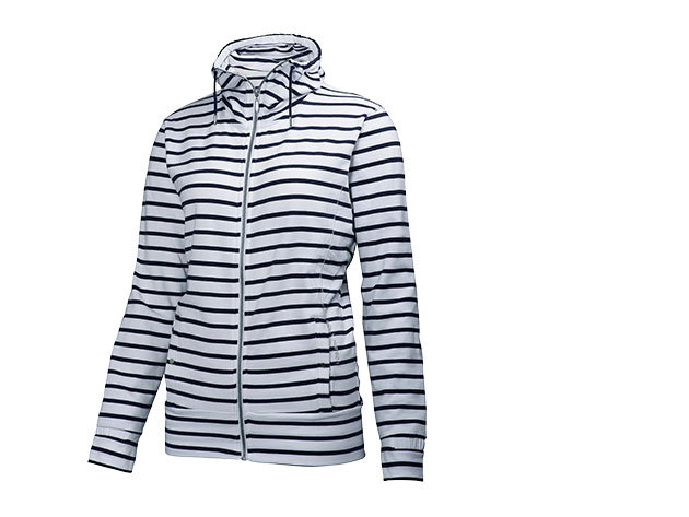 Helly Hansen W BLISS FZ CARDIGAN EVENING BLUE STRIPE S (54171_690-S)