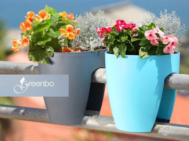 GREENBO - korlátra rakható dizájnos és praktikus kaspó, a tavaszi ültetés jegyében