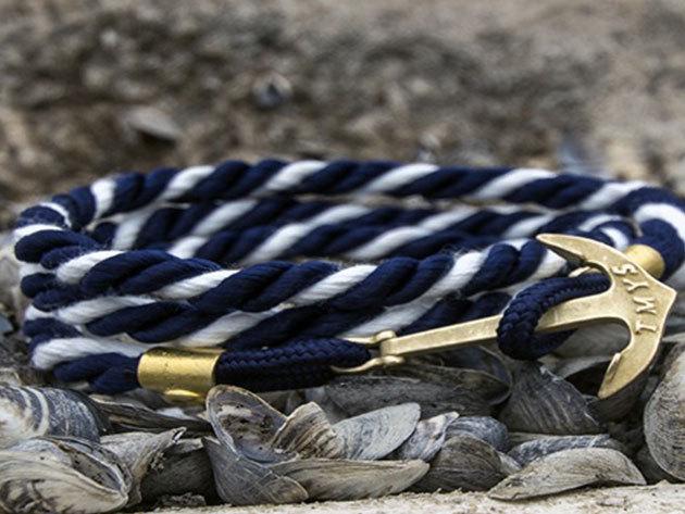 Tom Marton Leman Collection - Addington - Navy kék és fehér, horgonyos