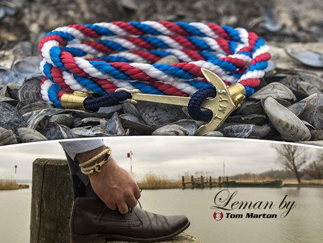 Ajándékozz Tom Marton Leman Collection - yachting style - minőségi, divatos, 100% kézimunkával készült karkötőt!