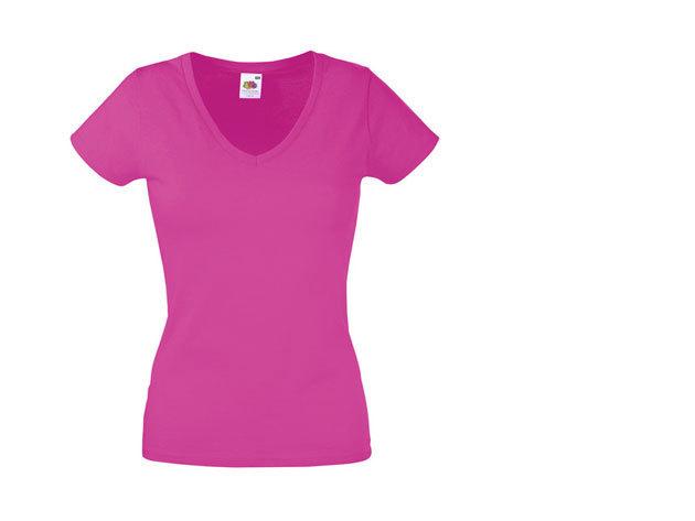 FOL V-nyakú karcsúsított női póló - CIKLÁMEN