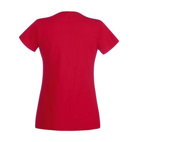 FOL V-nyakú karcsúsított női póló - PIROS
