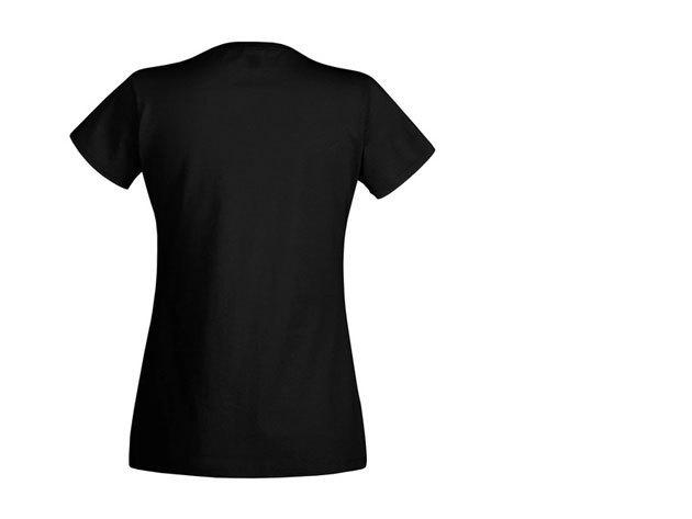 FOL V-nyakú karcsúsított női póló - FEKETE