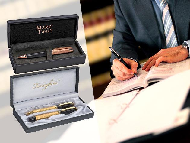 Ajándékozz Mark Twain vagy Ferraghini elegáns tollat, akár ballagásra!