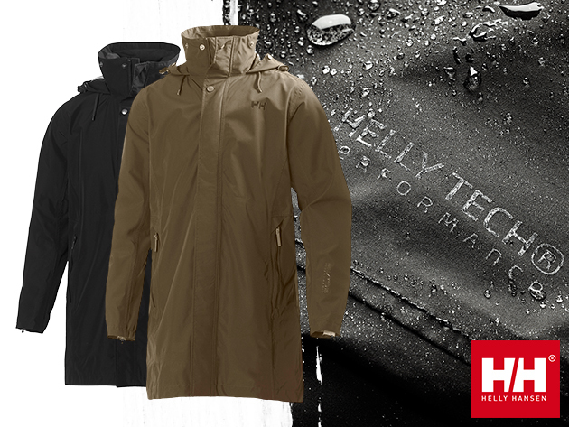 Helly Hansen ROYAN COAT - Karcsú, üzleti  stílusú esőkabát, szuper könnyű HellyTech Performance anyagból.