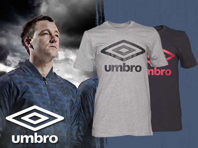 UMBRO - férfi póló fekete, fehér és szürke színben, 100% rugalmas pamut anyagból
