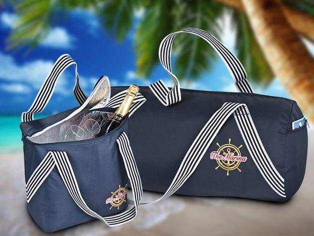 Nautica és Marina táskák kiránduláshoz és a strandra, trendi kék-fehér dizájnnal