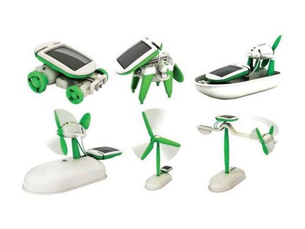 Napelemes solar robot készlet 6 az 1-ben