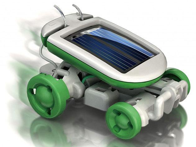 Mini Solar Robot - napelemmel működő, 6 az 1-ben játék: hajó, kutya, autó...stb.
