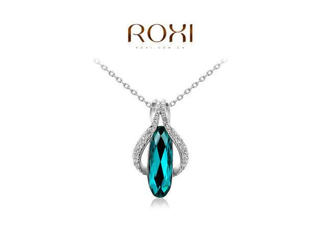 ROXI Zöld Ékkő nyaklánc 18 karátos arany bevonattal