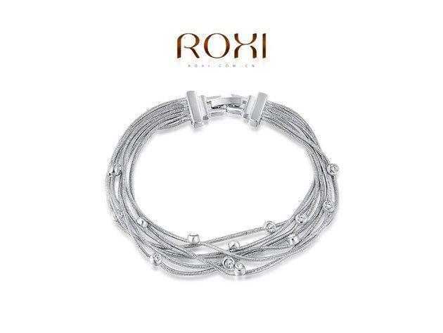 ROXI Ezüstös Fonalak karkötő 18 karátos arany bevonattal