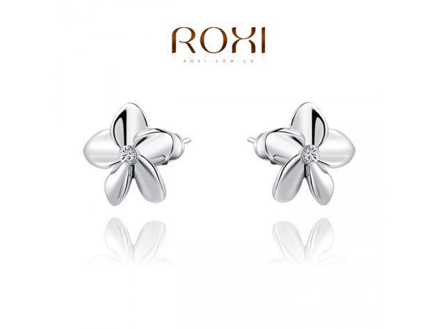 ROXI Ezüstös Virág fülbevaló 18 karátos arany bevonattal