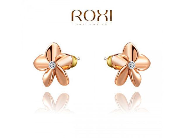 ROXI Virág fülbevaló 18 karátos arany bevonattal