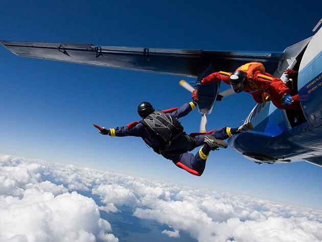 Tandemugrás 4000 méterről - felvétel nélkül