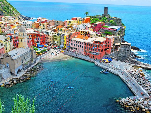 2015. május 20-26. Cinque Terre, LIGÚRIA CSODÁI - 7 nap tengeren és vasúton. Utazással, szállással, reggelivel /fő
