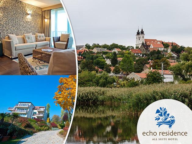 Tihanyi wellness pihenés az Echo Residence All Suite Hotelben - 3 nap/2 éj szállás, 2 fő részére félpanzióval és wellnessel