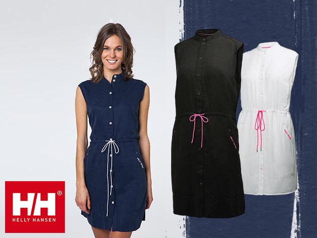 Helly Hansen W NAIAD SHIRT DRESS csinos női nyári ruha könnyű természetes szövetből - utolsó darabok, készleten