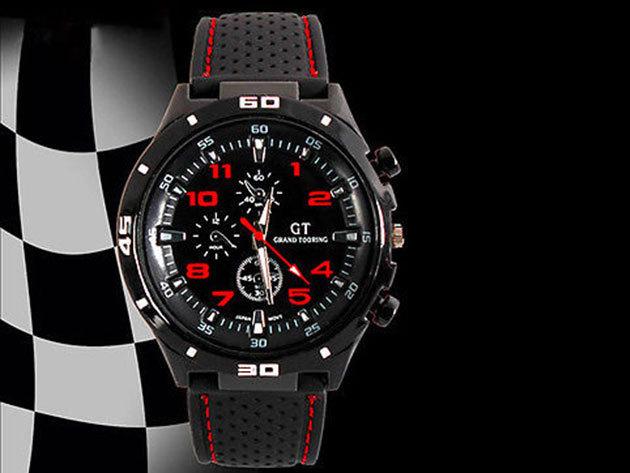 GT Sportos férfi karóra - piros dizájn