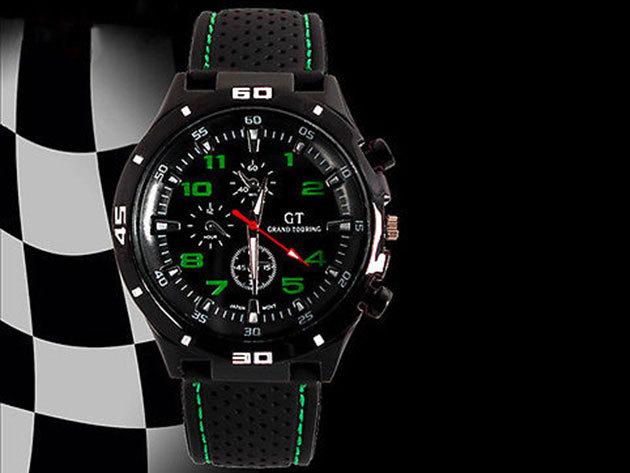 GT Sportos férfi karóra - zöld dizájn
