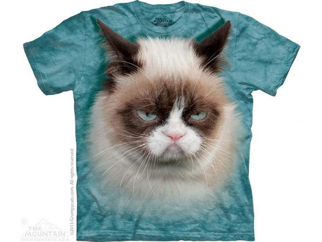 The Mountain, Grumpy Cat felnőtt rövid ujjú 3D amerikai póló (10_3688)