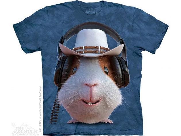 The Mountain, Guinea Pig Cowboy felnőtt rövid ujjú 3D amerikai póló (10_3780)