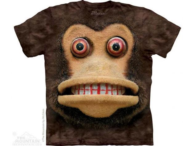 The Mountain, Big Face Cymbal Monkey felnőtt rövid ujjú 3D amerikai póló (10_3626)