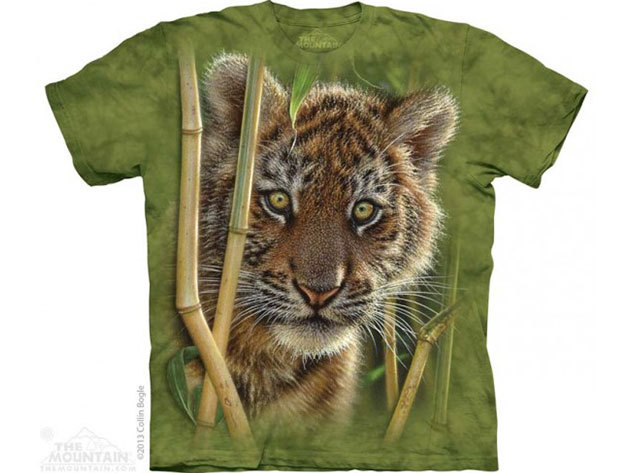 KIÁRUSÍTÁS!!! The Mountain, Baby Tiger felnőtt rövid ujjú 3D amerikai póló - S-es méret (10_3819s)