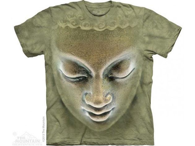 KIÁRUSÍTÁS!!! The Mountain, Big Face Buddha felnőtt rövid ujjú 3D amerikai póló - L-es méret (10_3730l)