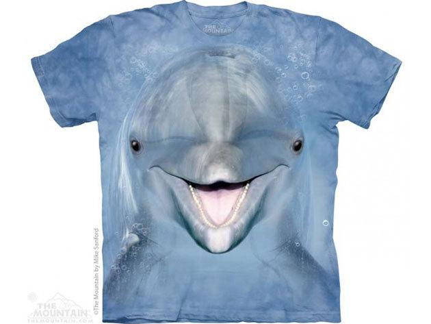 KIÁRUSÍTÁS!!! The Mountain, Dolphin Face felnőtt rövid ujjú 3D amerikai póló - S-es méret (10_3650s)