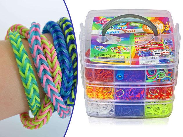 Full Loomy Bands - 1000 és 4500 db-os kreatív, színes karkötőkészítő szettek