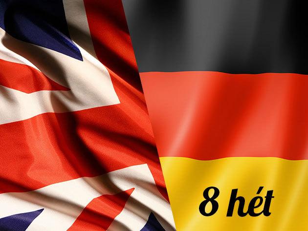 8 hetes nyári intenzív angol vagy német nyelvtanfolyam június 1-től (32 órás / heti 4 óra)