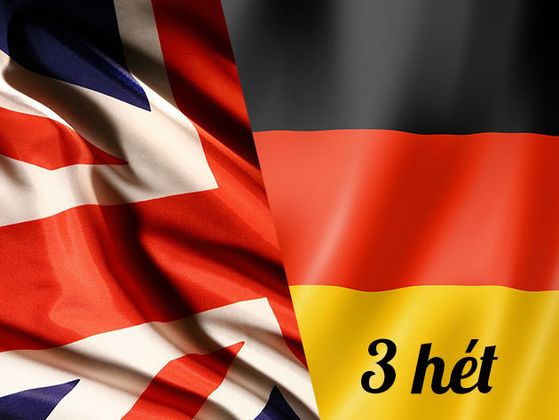 3 hetes nyári intenzív angol vagy német nyelvtanfolyam június 22-től (délelőtti, 30 órás, heti 10 óra)
