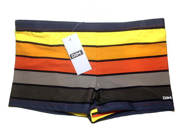 DIM SHORTY DI150117-004-L / Narancs csíkos / L méret