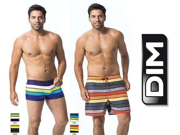 DIM úszónadrágok - divatos színek, kényelmes fazon, gyorsan száradó anyag