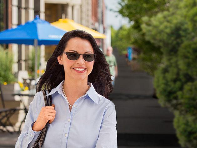 Transitions fényre sötétedő szemüveg - 100% UVA - UVB szűrő, választható keret és lencseszín
