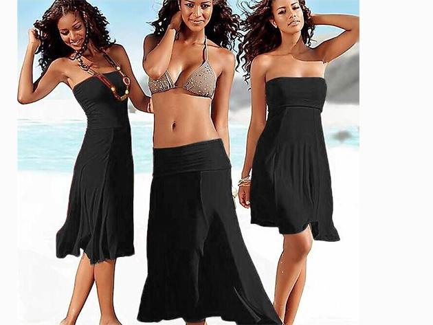 Csinos nyári ruha, melyet szoknyaként is viselhetsz - FEKETE