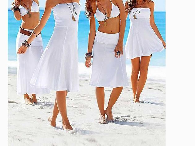 Csinos nyári ruha, melyet szoknyaként is viselhetsz - FEHÉR