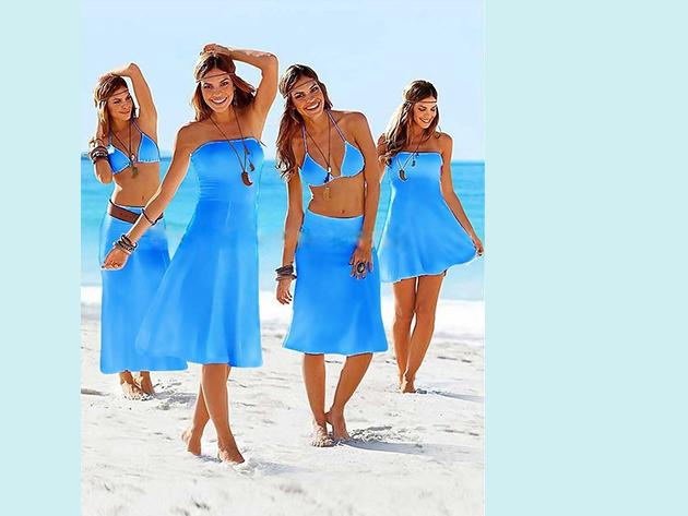 Csinos nyári ruha, melyet szoknyaként is viselhetsz - KÉK