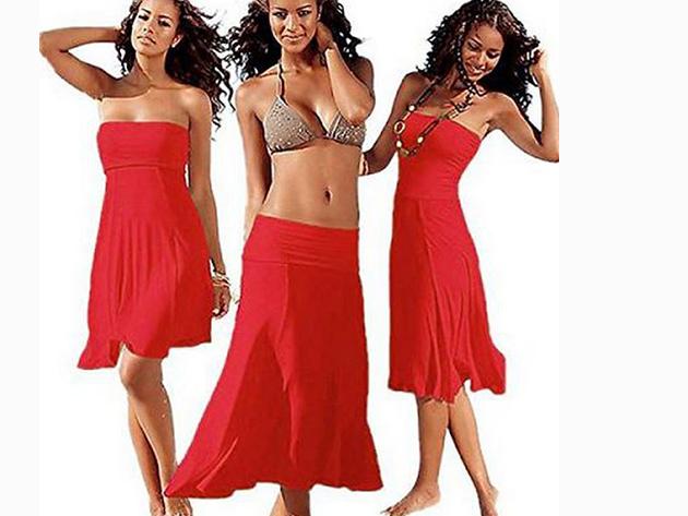 Csinos nyári ruha, melyet szoknyaként is viselhetsz - PIROS