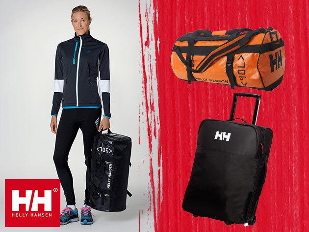 Helly Hansen CLASSIC DUFFEL BAG és NEW HH TRAVEL TROLLEY utazótáskák 50 és 90 literes méretekben
