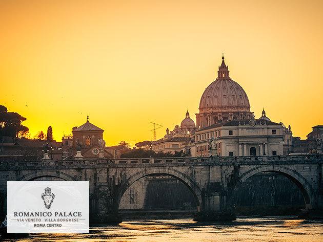 RÓMAI VAKÁCIÓ! 4 nap/3 éj Rómában reggelivel, Spa-val, 2 fő részére: Romanico Palace Hotel Rome****