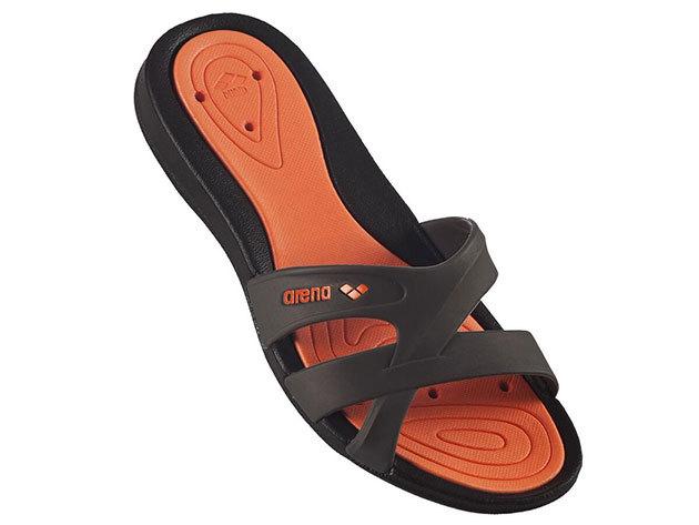 Arena női papucs - narancssárga/fekete (méret: 40)